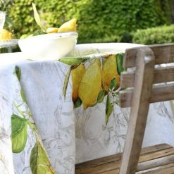 Lemons Italian Linen Tablecloth