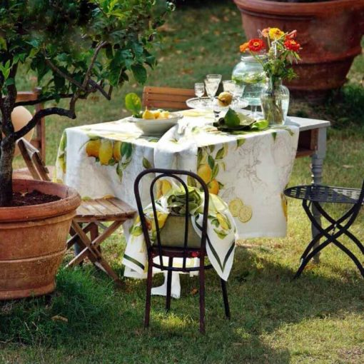 Lemons Linen Tablecloth