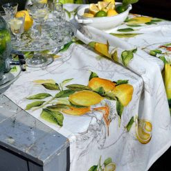 Linen Tablecloth Lemons
