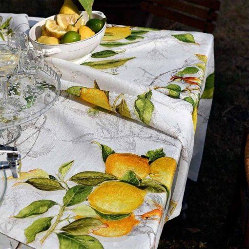 Linen Lemons Tablecloth
