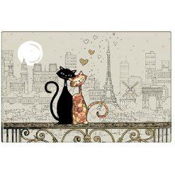 Cat Duo in Paris Placemats