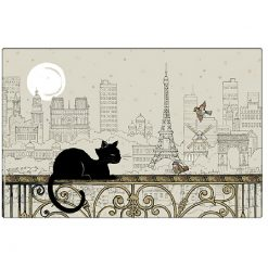 Cat Solo in Paris Placemat