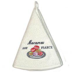 French Hand Towel White Macarons