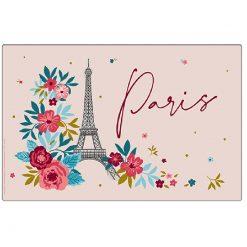 Paris En Fleur Rose Placemat
